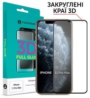 Защитное стекло MakeFuture для для Apple iPhone 11 Pro Max 3D (MG3D-AI11PM)