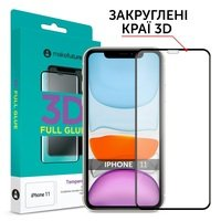 Защитное стекло MakeFuture для для Apple iPhone 11 3D (MG3D-AI11)