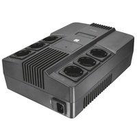 ДБЖ Trust Maxxon 800VA UPS with 6 standard wall power outlets BLACK (23326_TRUST)