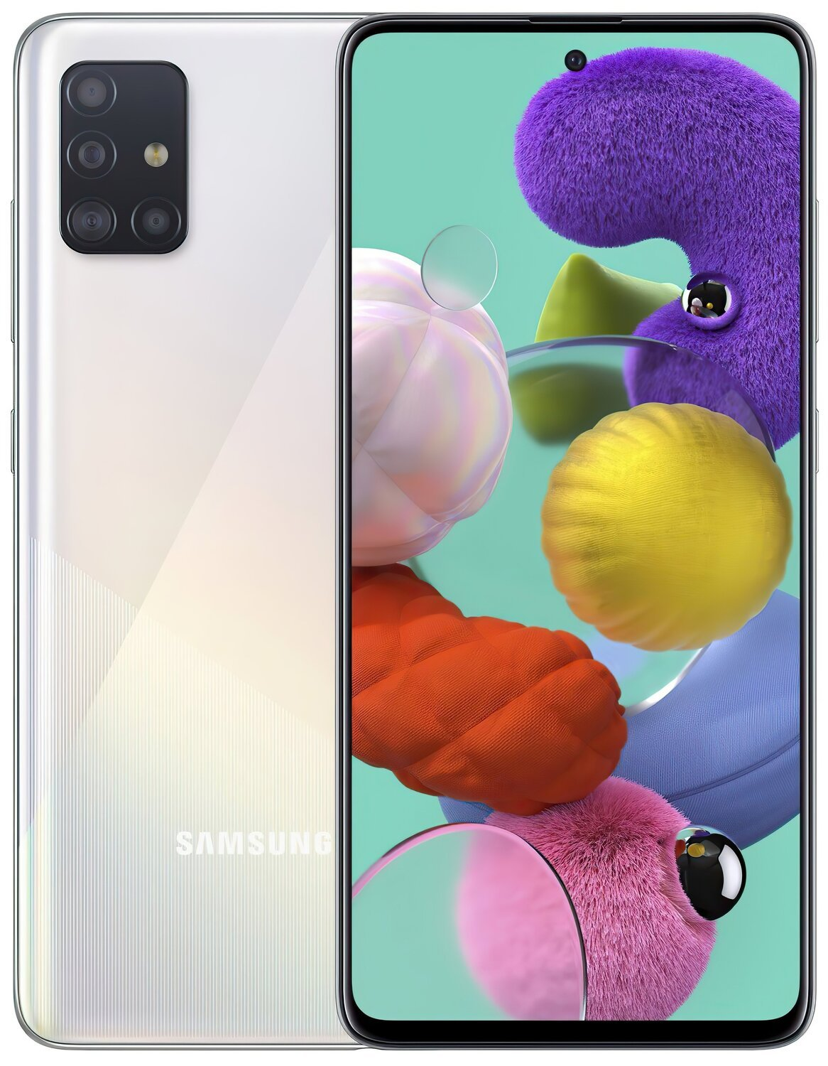 Смартфон Samsung Galaxy A51 (A515F) 6/128GB DS White фото 1