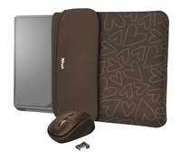 """<p>Чохол + миша Trust YVO Mouse and Sleeve 15.6"""" Brown-hearts</p>"""