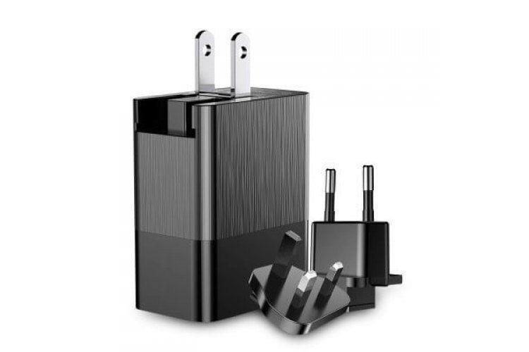 Мережевий зарядний пристрій Baseus Duke Universal Travel на 3 USB 3.4A (EU+UK+US), black фото1