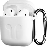 Чехол 2Е для Apple AirPods Pure Color Silicone Imprint (1.5mm) White