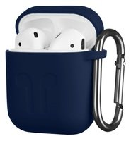 Чехол 2Е для Apple AirPods Pure Color Silicone (1.5mm) Imprint Navy
