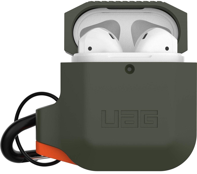 Чехол UAG для Airpods Silicone Olive Drab/Orange (10185E117297) фото 1
