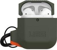 Чехол UAG для Airpods Silicone Olive Drab/Orange (10185E117297)