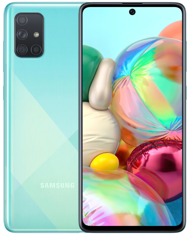 Смартфон Samsung Galaxy A71 A715F Blue фото 1