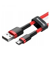 Кабель Baseus Cafule USB to micro 2.4A, 1м, red+red