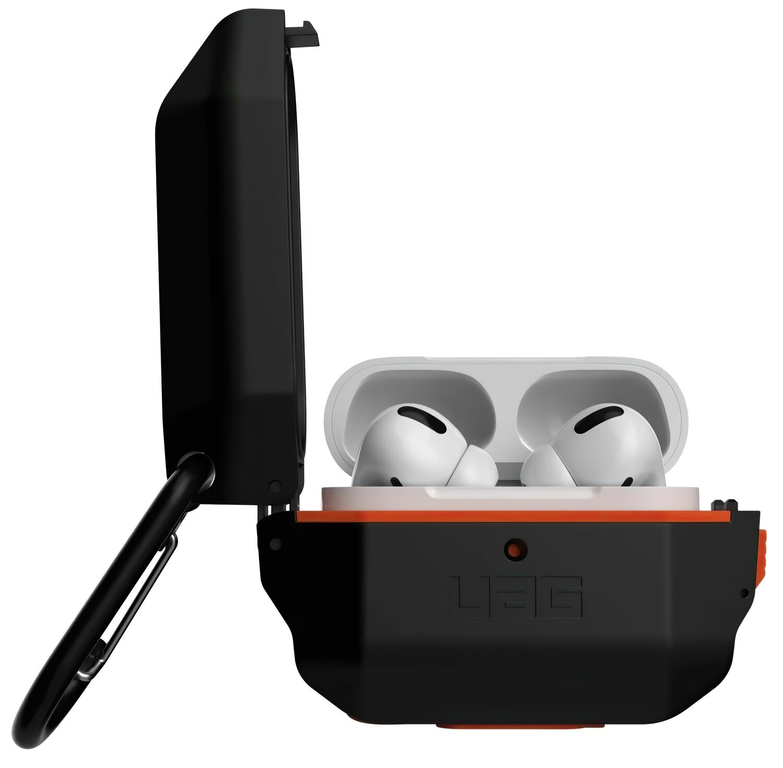 Чехол UAG для Airpods Pro Hardcase Black/Orange (10225F114097) фото 1