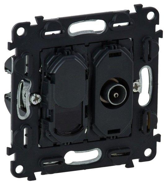 Купить Розетки и выключатели, Розетка Legrand TV + RJ45 CAT.6 UTP Valena IN'MATIC ТВ