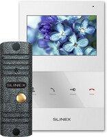 Комплект видеодомофона Slinex SQ-04 White + Панель ML-16НR Grey Antiq