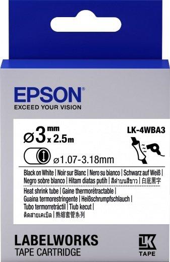 Картридж с лентой Epson LK4WBA3 принтеров LW-300/400/400VP/700 Black/White 3mm/2,5 m (C53S654903) фото 1