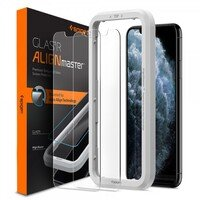 Стекло Spigen для iPhone 11 Pro/XS/X AlignMaster Glas tR 2 pack