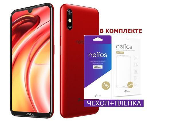 Купить Смартфоны, Смартфон TP-Link Neffos C9 Max 2/32GB DS Dark Red (чехол+плёнка)