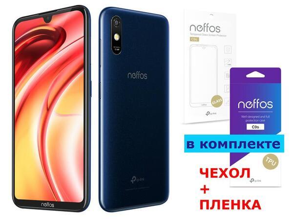 Купить Смартфоны, Смартфон TP-Link Neffos C9s 2/16GB DS Dark Blue (чехол+плёнка)