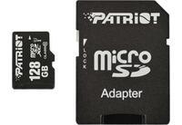 Карта памяти Patriot microSDXC 128GB Class 10 UHS-I LX + SD-адаптер