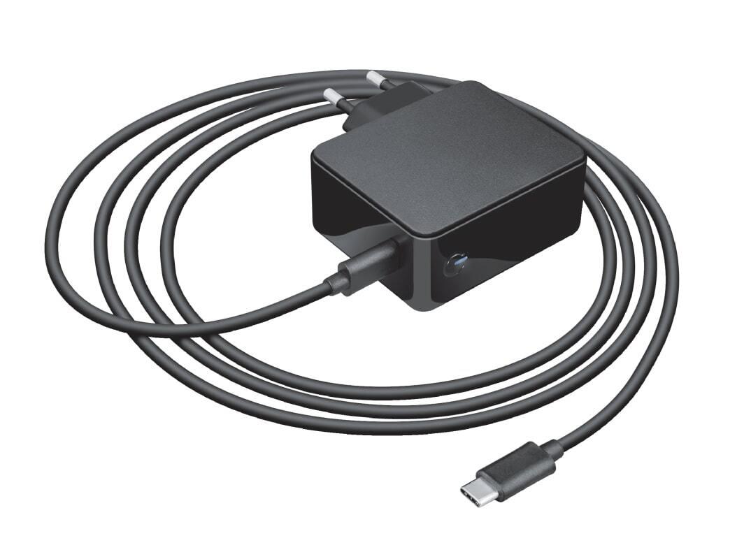 Мережевий зарядний пристрій Trust Summa 45W Universal USB-C Charger Black фото1