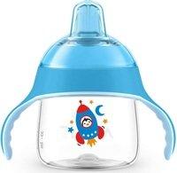 Чашка-непроливайка с носиком Avent 200мл 6 мес+ голубая (SCF746/02)