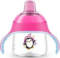Чашка-непроливайка с носиком Avent 200мл 6 мес+ розовая (SCF746/03)