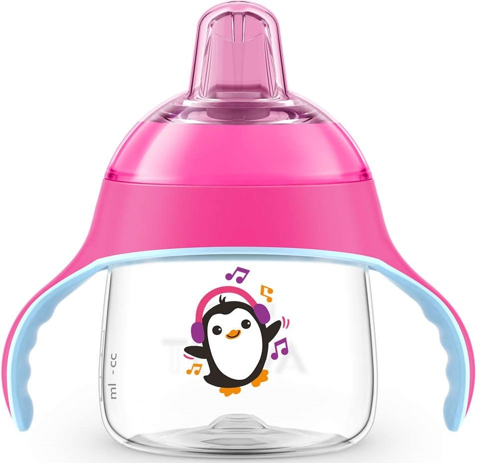Чашка-непроливайка с носиком Avent 260мл 12 мес+ розовая (SCF747/03) фото 1