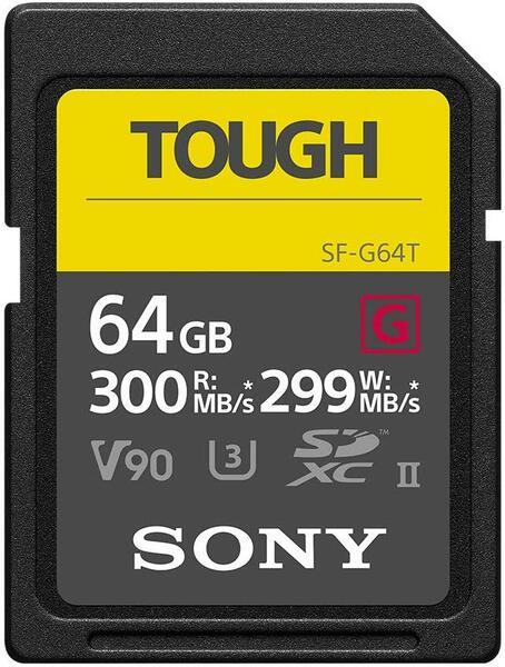 Купить Карты памяти SD, Карта памяти Sony SDXC 64GB C10 Tough UHS-II U3 V90 R300/W299MB/s (SF-G64T)