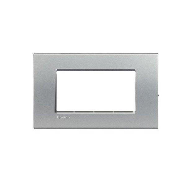 Купить Опции к пассивному сетевому оборудованию, Рамка Legrand Bticino LivingLight 4 модуля, Алюминий