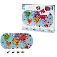 Игрушка для купания Janod Пазл Карта мира (J04719)