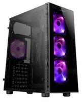 Корпус Antec NX210 Gaming без БП 2xUSB2.0 1 x USB3.0 загартоване скло 4х120мм ARGB Black