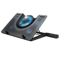 """Подставка для ноутбука Trust GXT 1125 Quno (17.3"""") Blue LED Black"""