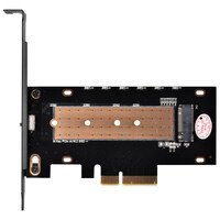 Плата-адаптер SilverStone PCIe x4 для SSD m.2 SATA + NVMe Heatsink