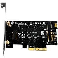 Плата-адаптер SilverStone PCIe x4 для SSD m.2 SATA та NVMe