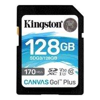 Карта памяти KINGSTON 128GB SDXC Canvas Go Plus 170R Class 10 UHS-I U3 V30(SDG3/128GB)