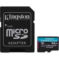 Карта памяти Kingston microSDXC 64GB Canvas Go Plus 170R A2 U3 V30 + Адаптер