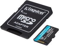 Карта памяти Kingston microSDXC 256GB Canvas Go Plus 170R A2 U3 V30 + Адаптер
