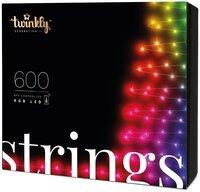 Smart LED Гірлянда Twinkly Strings RGB 600, BT+WiFi, Gen II, IP44 кабель чорний (TWS600STP-BEU)