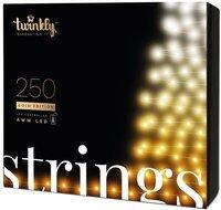 Smart LED Гирлянда Twinkly Strings AWW 250, BT+WiFi, Gen II, IP44, кабель черный (TWS250GOP-BEU)