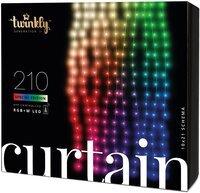 Smart LED Гирлянда Twinkly Curtain,Wall RGBW 210, BT+WiFi, Gen II, IP44 кабель прозрачный (TWW210SPP-TEU)
