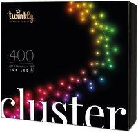 Smart LED Гирлянда Twinkly Cluster RGB 400, BT+WiFi, Gen II, IP44 кабель черный (TWC400STP-BEU)