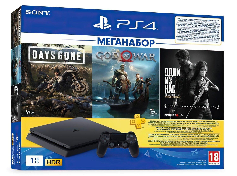 Игровая консоль PlayStation 4 Slim 1Tb (Days Gone + God Of War + The Last of Us + PSPlus 3M) (9382102) фото 1
