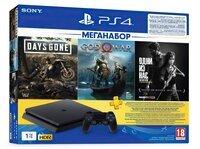 Игровая консоль PlayStation 4 Slim 1Tb (Days Gone + God Of War + The Last of Us + PSPlus 3M) (9382102)