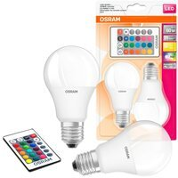 Лампа светодиодная OSRAM LED A60 9W 806Lm 2700К+RGB E27 пульт ДУ