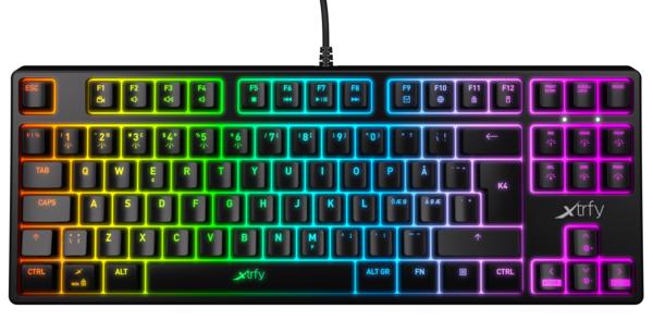 Купить Клавиатуры, Игровая клавиатура Xtrfy K4 TKL RGB Kailh Red RU (XG-K4-RGB-TKL-R-RUS)