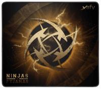 Игровая поверхность Xtrfy XTP1 NiP Lightning Medium, Black-Gold (XTP1-M3-NIP-LI)