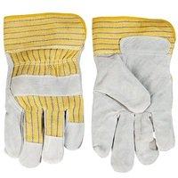Перчатки рабочие TOPEX серый спилок, размер 10.5 (83S111)