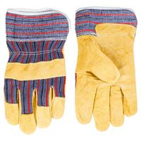 Перчатки рабочие TOPEX желтый спилок, размер 10.5 (83S110)