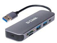 USB-хаб D-Link DUB-1325 2xUSB3.0 1xUSB Type-C 1xSD 1x-microSD USB 3.0