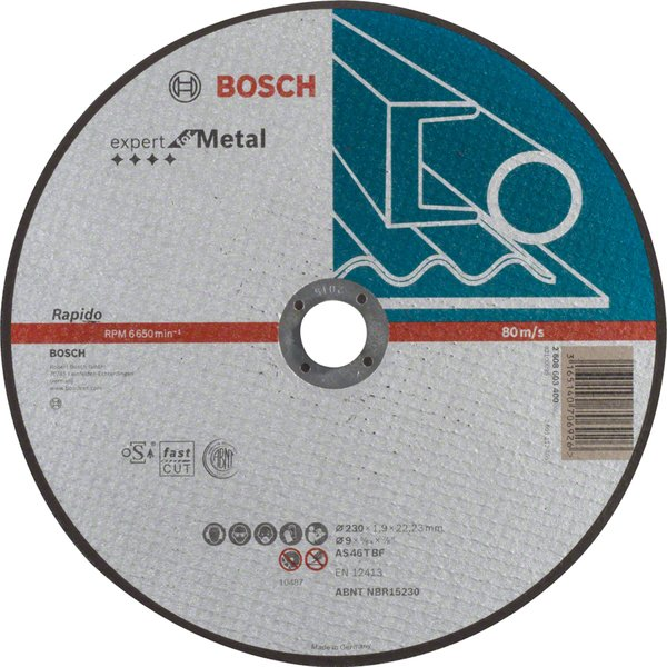 bosch Отрезной круг по металлу Bosch Expert прямой 2608603400