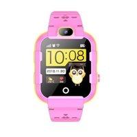 Детские телефон-часы с GPS трекером GOGPS ME K22 Розовые