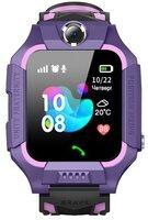 Детские телефон-часы с GPS трекером GOGPS ME K24 Пурпурные
