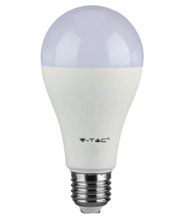 Светодиодная лампа V-TAC 15W-100W SAMSUNG CHIP E27 A65 Plastic 3000K (3800157627726) фото